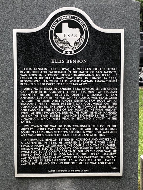Ellis Benson Marker image. Click for full size.