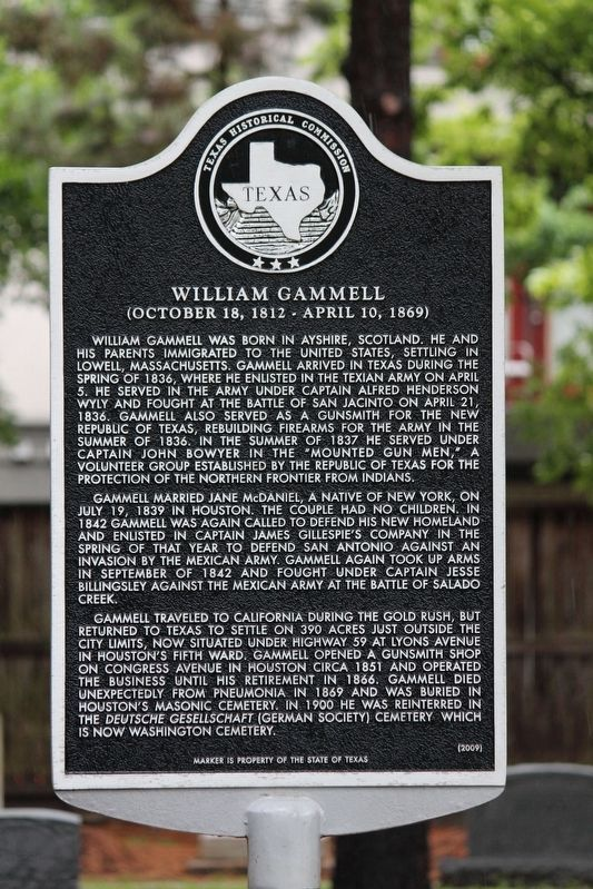 William Gammell Marker image. Click for full size.