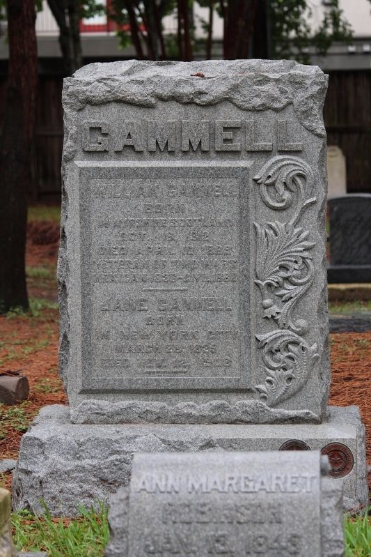 William Gammell Grave Marker image. Click for full size.