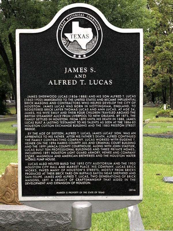 James S. and Alfred T. Lucas Marker image. Click for full size.