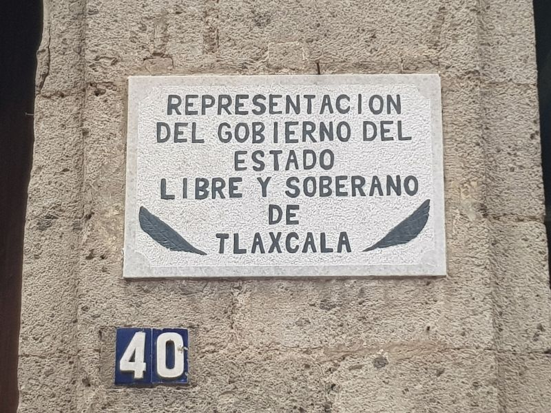 An additional nearby marker from the Mexican state of Tlaxcala image. Click for full size.