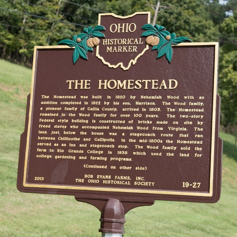 The Homestead Marker, Side One image. Click for full size.