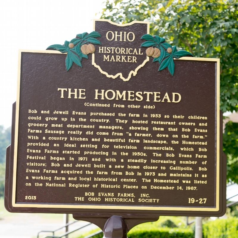 The Homestead Marker, Side Two image. Click for full size.
