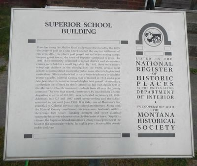 Superior School Marker image. Click for full size.