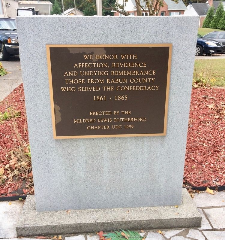 Rabun County Confederate Monument image. Click for full size.