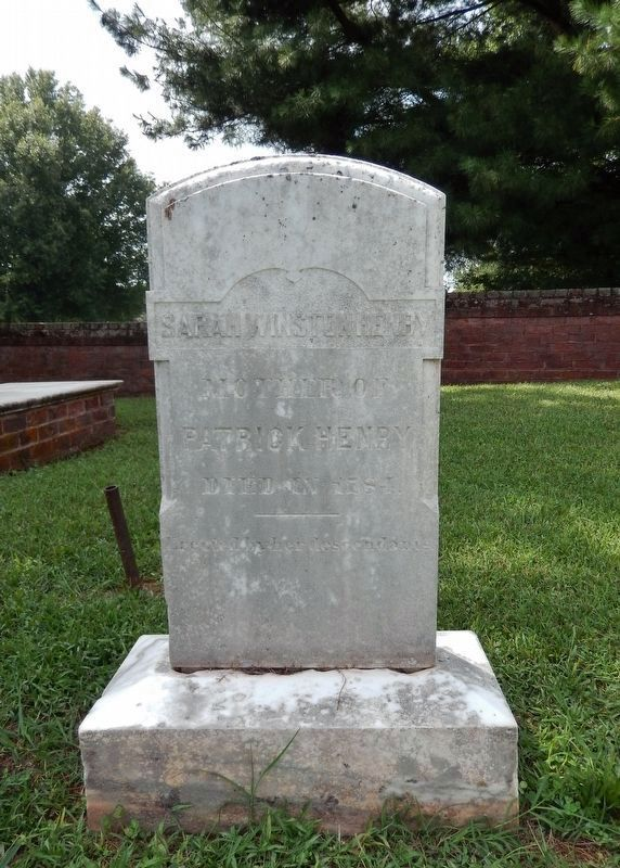 Sarah Winston Henry&#39;s Headstone (<i>located roughly in the center of Winton Cemetery</i>) image. Click for full size.