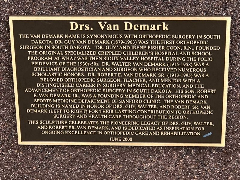 Drs. Van Demark Marker image. Click for full size.