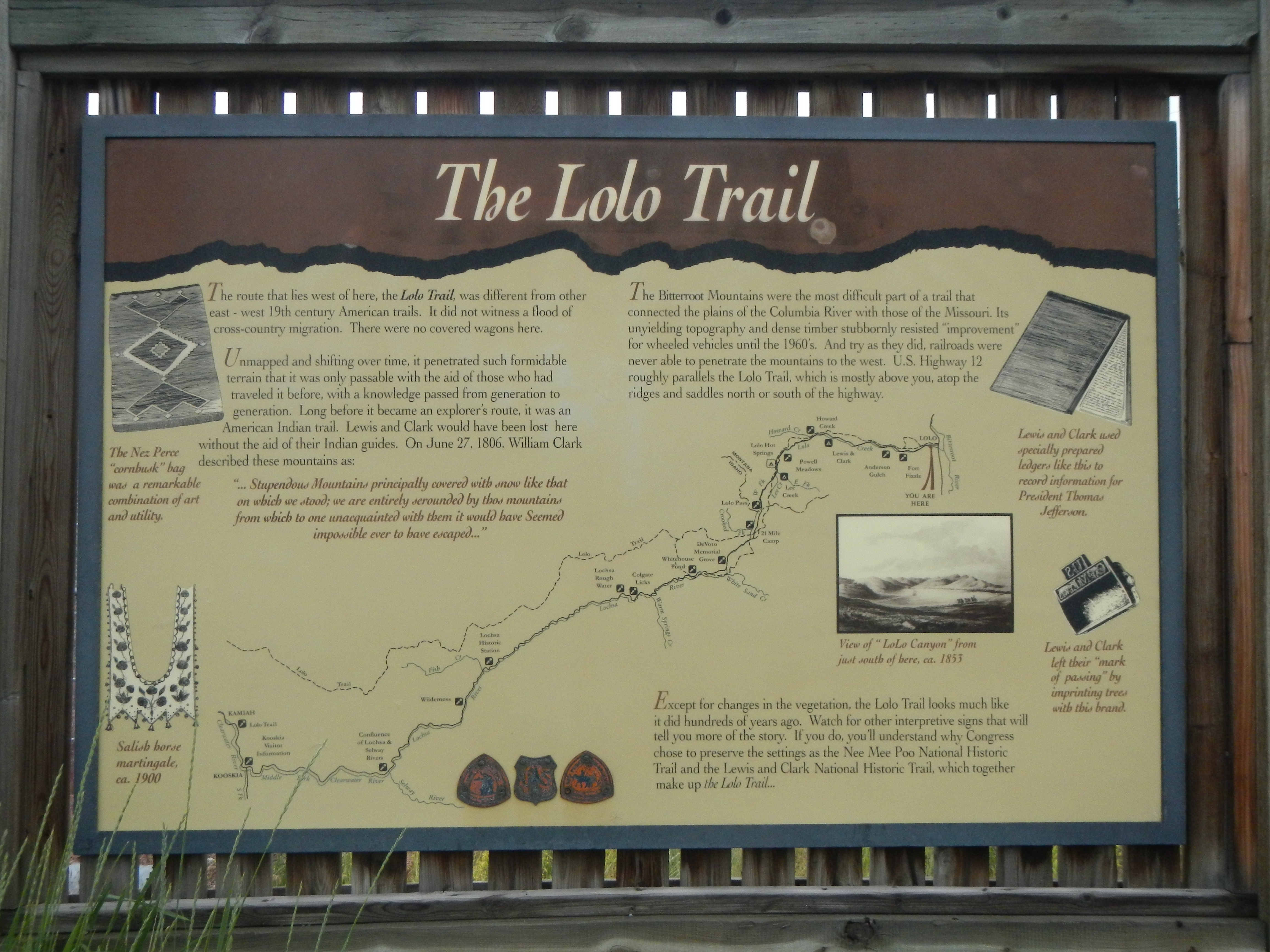 The Lolo Trail Marker