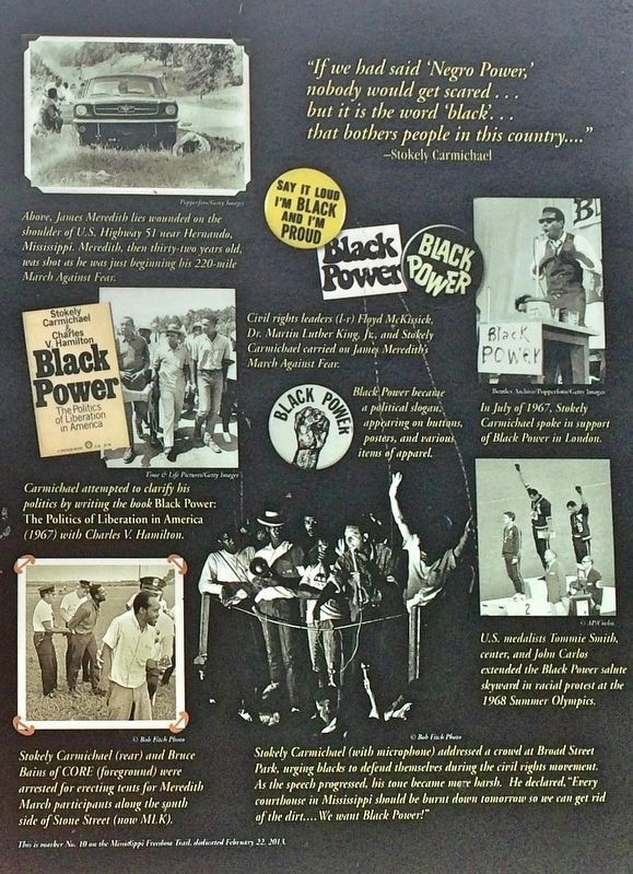 """Black Power"" Speech Marker photos image. Click for full size."