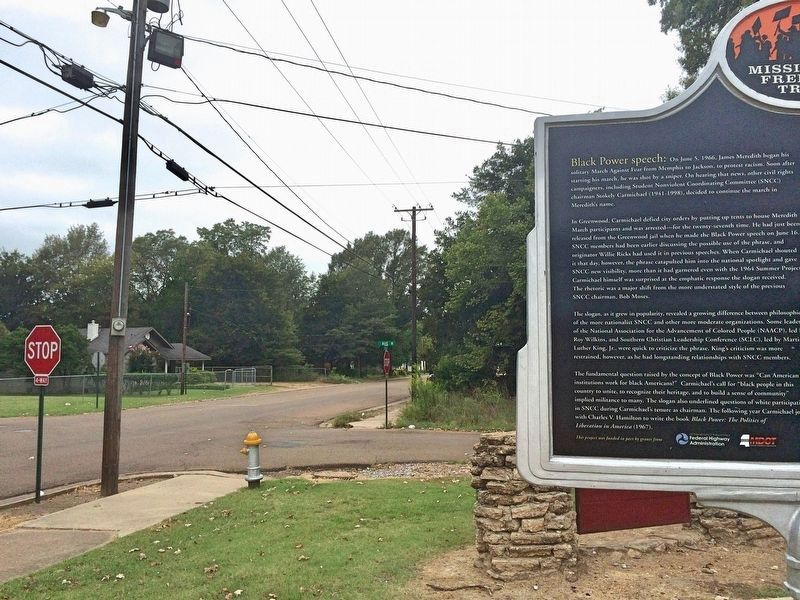 """Black Power"" Speech Marker at Broad Street Historical Park image. Click for full size."