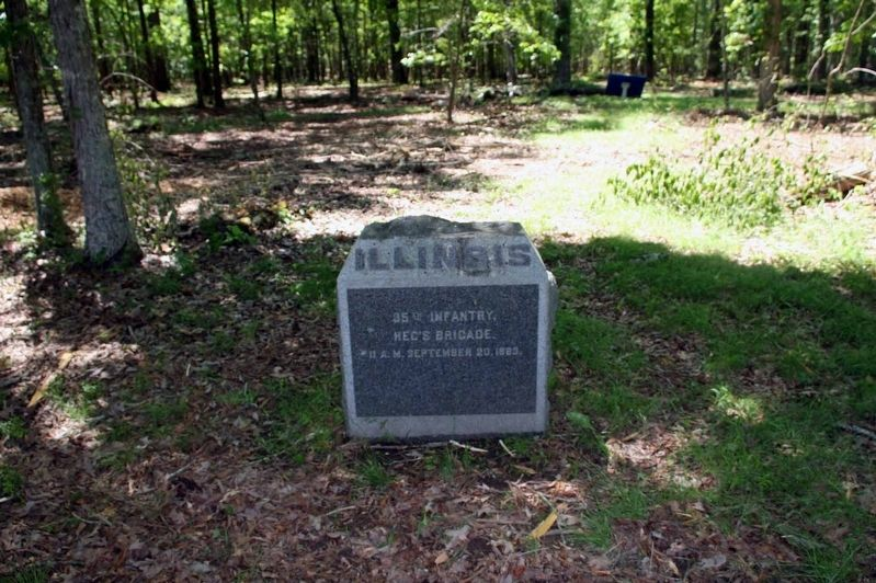 35th Illinois Infantry Marker image. Click for full size.