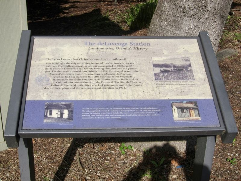 The deLaveaga Station Marker image. Click for full size.