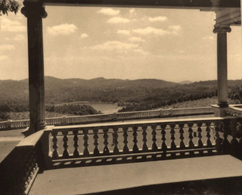 Marker detail: View of Bass Lake from porch of Flat Top Manor image. Click for full size.