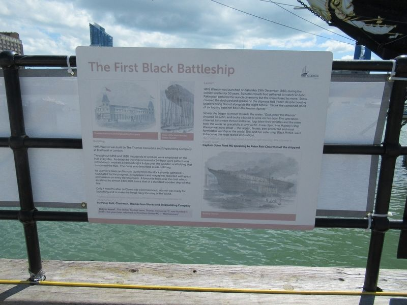 The First Black Battleship Marker image. Click for full size.