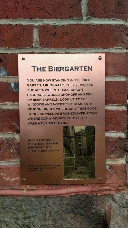 The Biergarten Marker image. Click for full size.