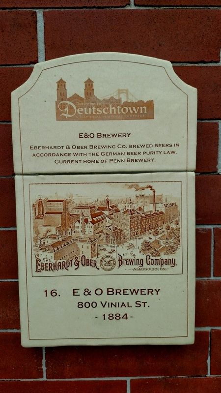 E & O Brewery Marker image. Click for full size.