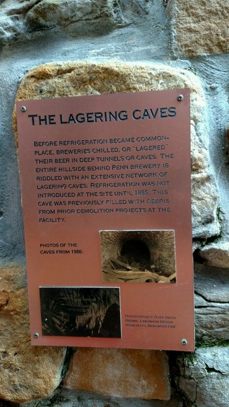 The Lagering Caves Marker image. Click for full size.