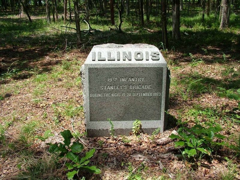 19th Illinois Infantry Marker image. Click for full size.