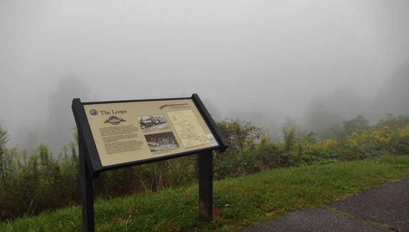 The Loops Marker (<i>wide view on a foggy day</i>) image. Click for full size.