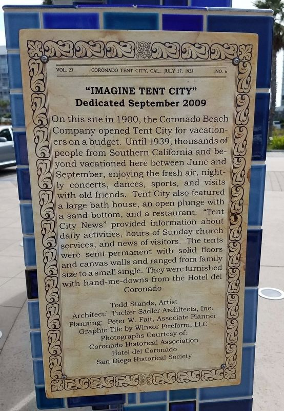 """IMAGINE TENT CITY"" Marker image. Click for full size."