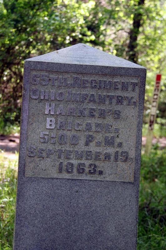 65th Ohio Infantry Regiment Marker image. Click for full size.
