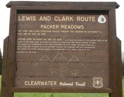 Lewis and Clark Route Marker image. Click for full size.