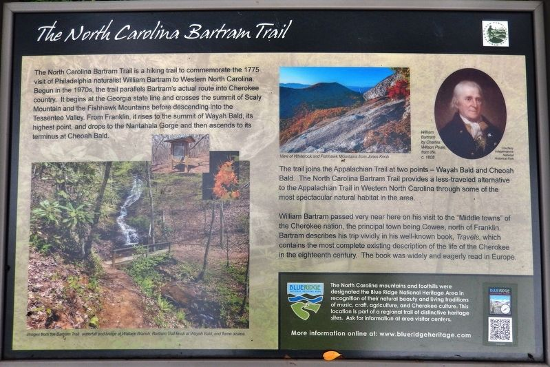 The North Carolina Bartram Trail Marker image. Click for full size.