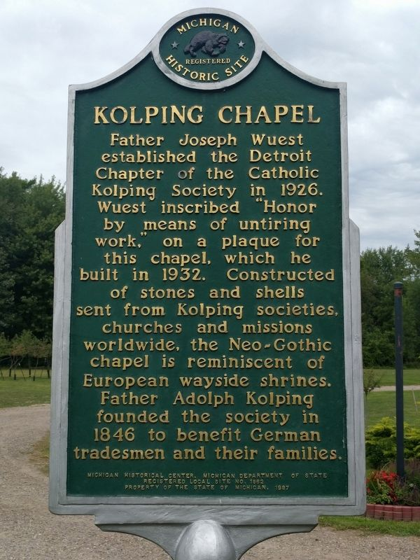 Kolping Chapel Marker image. Click for full size.