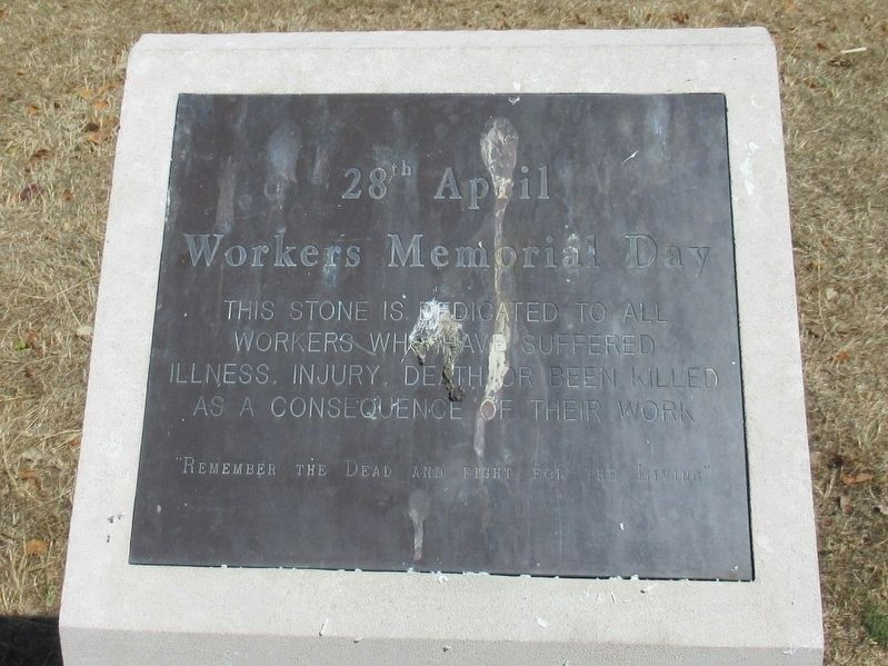 Workers Memorial Day Marker image. Click for full size.