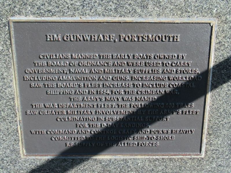 HM Gunwharf, Portsmouth Marker image. Click for full size.