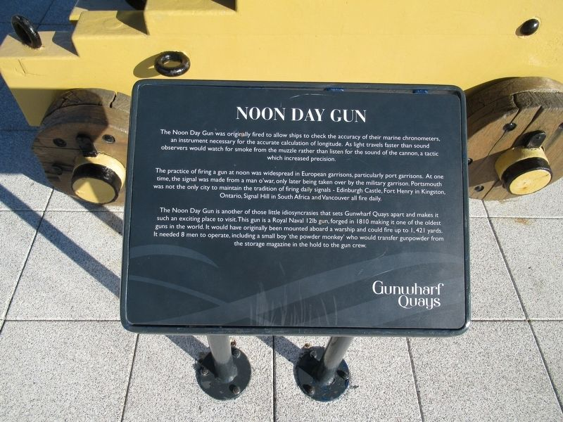 Noon Day Gun Marker image. Click for full size.