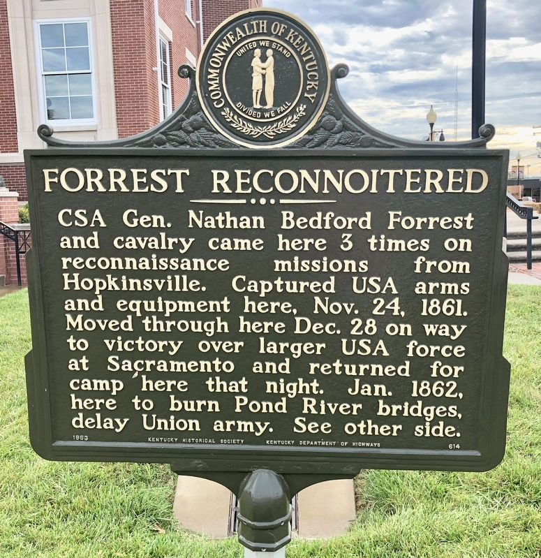 Forrest Reconnoitered Marker image. Click for full size.