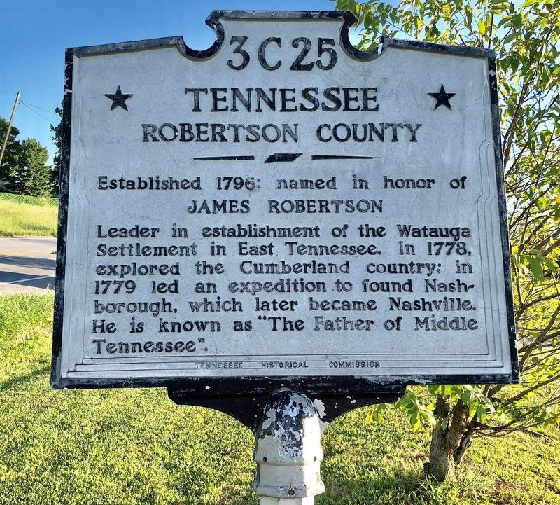 Tennessee, Robertson County Line Marker image. Click for full size.