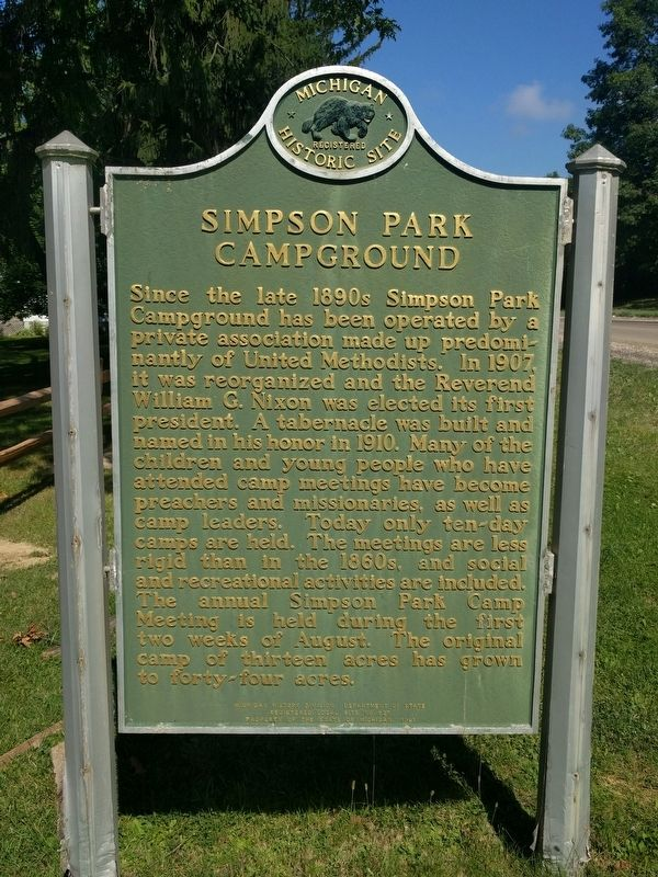 Simpson Park Campground Marker image. Click for full size.