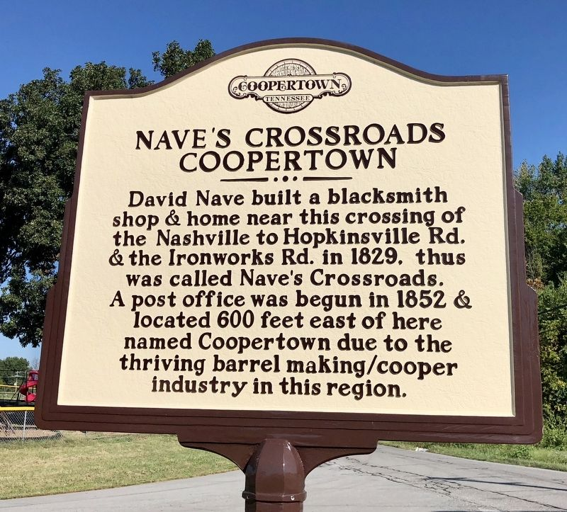 Naves Crossroads Coopertown Marker image. Click for full size.