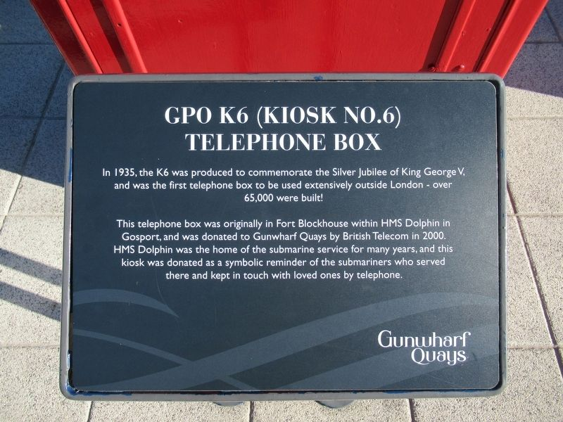 GPO K6 Telephone Box Marker image. Click for full size.