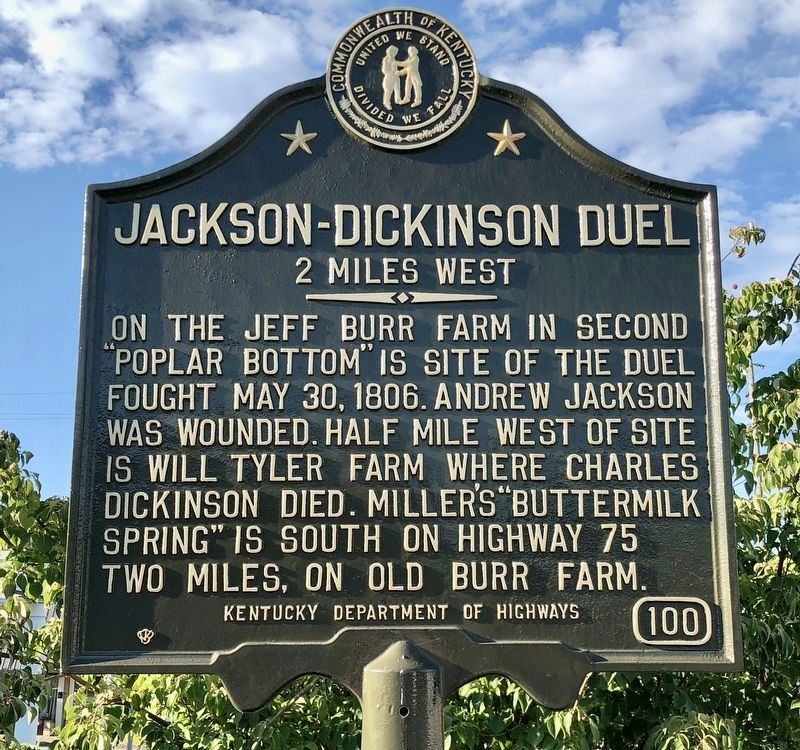 Jackson-Dickinson Duel Marker image. Click for full size.