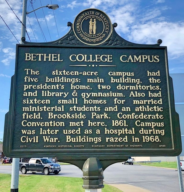 Bethel College Campus Marker image. Click for full size.