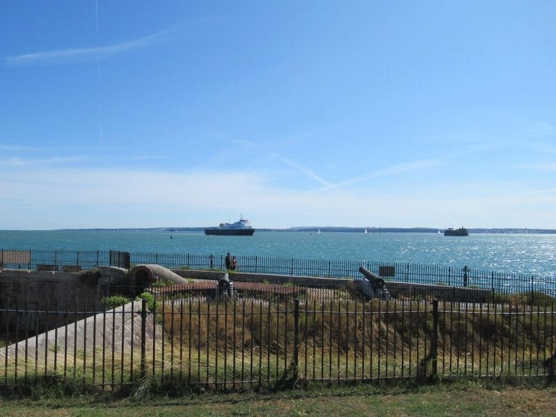Ships in The Solent seen from Southsea Castle image. Click for full size.