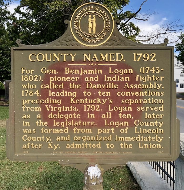 County Named, 1792 Marker image. Click for full size.