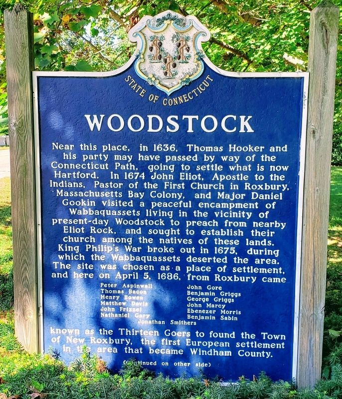Woodstock Marker Front image. Click for full size.