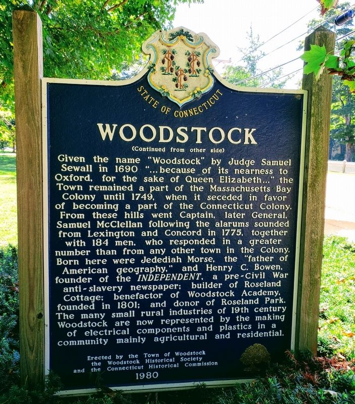 Woodstock Marker Back image. Click for full size.