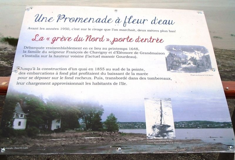 "La « grève du Nord », porte d'entrée / The ""North Shore"" gateway Marker image. Click for full size."