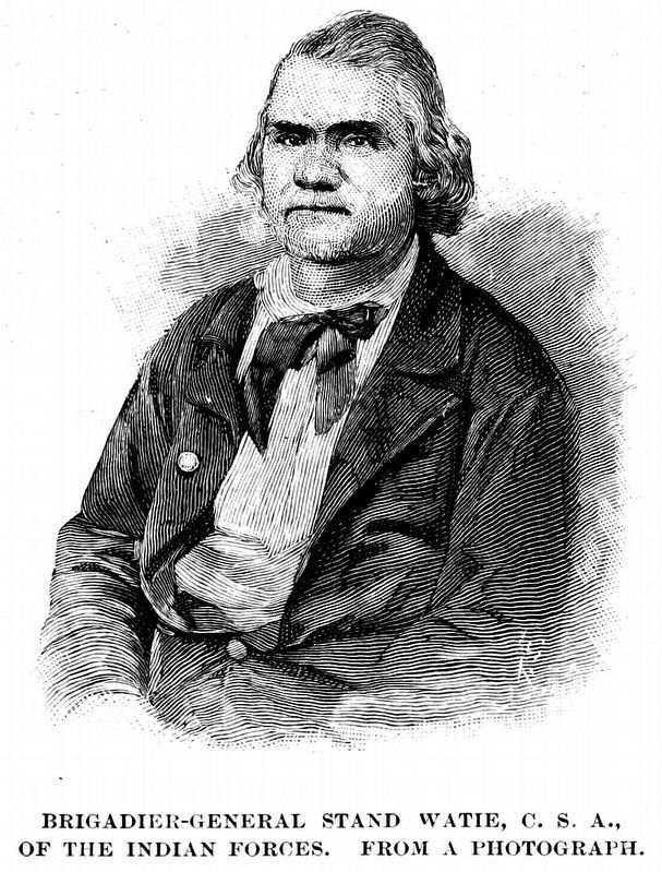 Brigadier General Stand Watie, C.S.A.,<br>of the Indian Forces. image. Click for full size.