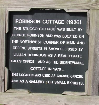 Robinson Cottage (1926) Marker image. Click for full size.