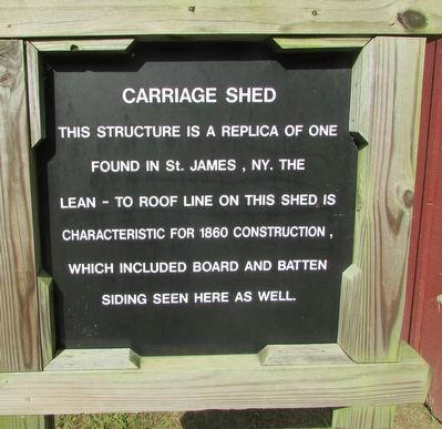 Carriage Shed Marker image. Click for full size.