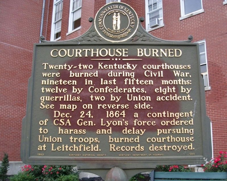 Courthouse Burned Marker is missing. image. Click for full size.