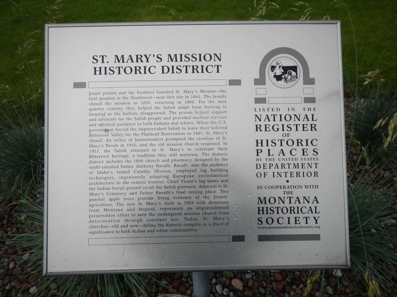 St. Mary's Mission Historic District Marker image. Click for full size.