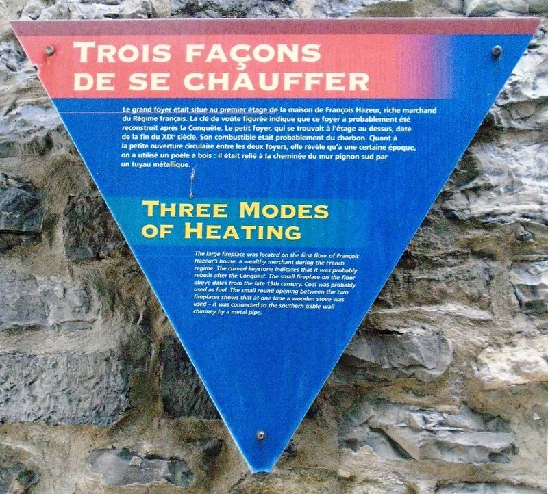 Trois façons de se chauffer / Three Modes of Heating Marker image. Click for full size.