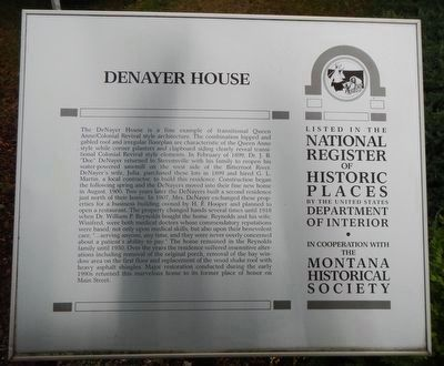 Denayer House and Marker image. Click for full size.